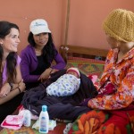 Kratie Province, Cambodia. Cissie Graham visits a community birthing center.